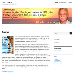 Charlie Roberts web site by Caligraphics