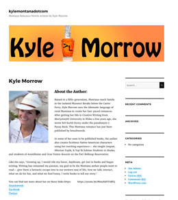 Kyle Morrow site by Caligraphics